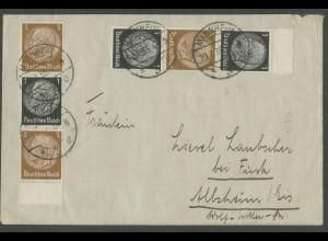 Dt. Reich, S 116 OR 2 + S 116 UR 1, portogerecht, Mi.-Handbuch 95,- (13306)