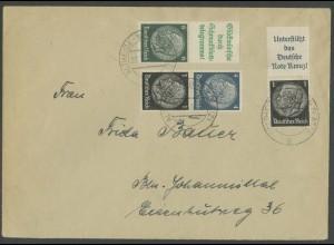 Dt. Reich, S 207, S 211, S171, portogerechter Fern-Brief, Mi. 48,- (13323)