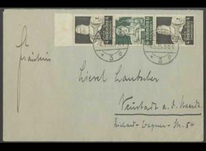 Dt. Reich, S 220 Rand, Einzelfrankatur auf Fern-Brief, Mi. MiF 50,- (13334)