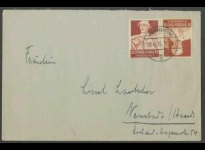 Dt. Reich, K 24, Einzelfrankatur auf Fern-Brief, Mi.-Handbuch 30,- (13338)