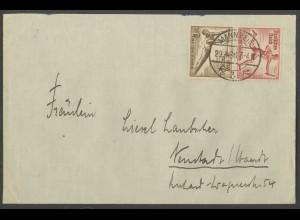 Dt. Reich, SK 28, Einzelfrankatur auf Fern-Brief, Mi. MiF 70,- (13342)