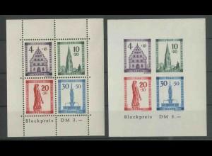 Frz. Zone Baden, Block 1 A+B, postfrisch, Mi. 150,- (13404)