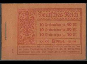 Dt. Reich, MH 14.1 A 1, postfrisch, ungeknickt, Mi. -,- (13543)
