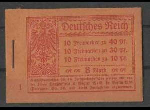 Dt. Reich, MH 14.1 A 2, postfrisch, Mi. 230,- (13552)