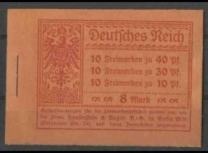 Dt. Reich, MH 14.2 A 2, postfrisch, ungeknickt, Mi. 600,- (13561)