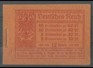 Dt. Reich, MH 15 A 2, postfrisch, ungeknickt, Mi. 850,- (13587)