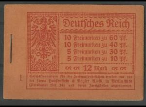 Dt. Reich, MH 15 A 2, postfrisch, ungeknickt, Mi. 850,- (13588)