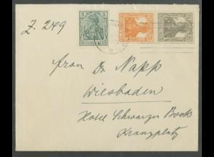 Dt. Reich, S 11 a, portogerechter Fern-Brief, gepr. BPP, Mi. 70,- (13604)