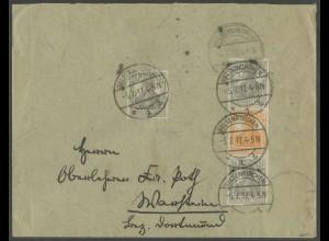 Dt. Reich, S 12 a, portogerechter Fern-Brief, gepr. BPP, Mi. 120,- (13607)