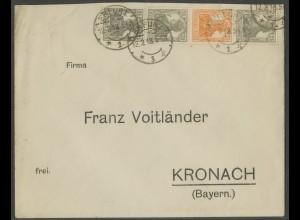Dt. Reich, S 12 a, portogerechter Fern-Brief, gepr. BPP, Mi. 120,- (13608)