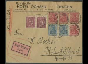 Dt. Reich, HBl. 29, portogerechter Eil-Brief (13616)