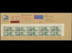 Dt. Reich, Mi. W 123 (10), portoger. Luftpost-Eil-R-Brief (13698)
