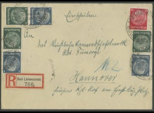 Dt. Reich, Mi. S 215 (3), portogerechter R-Brief, Mi. 36,- (13724)