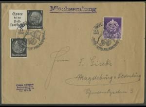 Dt. Reich, Mi. W 99, portogerechte Mischsendung (13740)