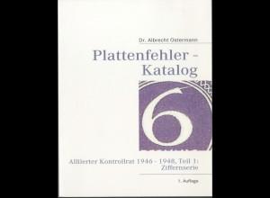 """Kontrollrat, Plattenfehler-Katalog """"Ziffern"""", 1.Auflage 2008, neuwertig (13772)"""