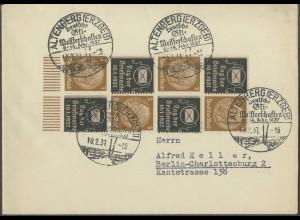 Dt. Reich, Mi. P-S 2, P-S 4, P-W 3, portogerechter Fern-Brief (13777)