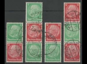 Dt. Reich, S 106 - S 109, gestempelt, Mi. 155,- (13866)