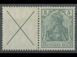 Dt. Reich, W 1.1, ungebraucht, Topp-Zähnung, signiert, Mi.-Handbuch 135,-(13910)