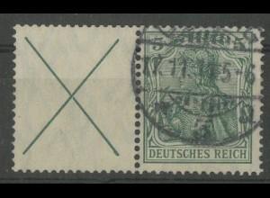 Dt. Reich, W 1.1, gestempelt, sehr gute Zähnung, Mi. 250,- (13911)