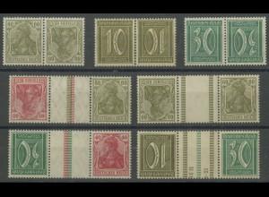 Dt. Reich, K 4-6, KZ 6-9, postfrisch, Mi. 105,- (13915)