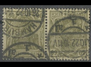 Dt. Reich, K 4, gestempelt, gepr. Infla/BPP, Mi. 25,- ++ (13916)