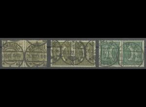 Dt. Reich, K 4-6, gestempelt, gepr. Infla/BPP, Mi. 125,- ++ (13918)