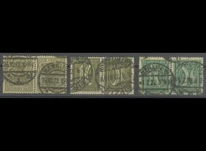 Dt. Reich, K 4-6, gestempelt,Mi. 125,- (13919)