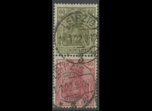 Dt. Reich, S 25, gestempelt, Topp-Zähnung, gepr. Infla, Mi. 50,- (13923)