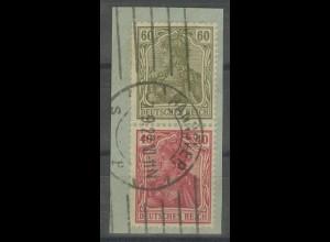 Dt. Reich, S 23, Briefstück, Topp-Zähnung, gepr. Infla, Mi. 250,- (13925)