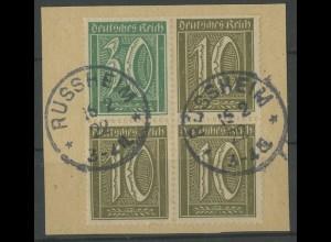 Dt. Reich, W 19, Briefstück, gepr. Infla, Mi. 100,- (13940)
