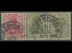 Dt. Reich, WK 3, gestempelt, ungeknickt, gepr. Infla, Mi. 800,- (13942)