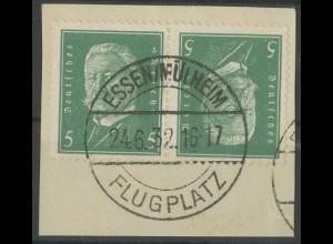 Dt. Reich, K 10, Briefstück, Mi. 40,- (13964)