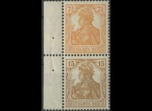 Dt. Reich, S 7 ba mit Rand, ungebraucht, Mi. 180,- (14019)
