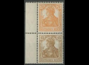 Dt. Reich, S 7 aa mit Rand, ungebraucht, gepr. BPP, Mi. 200,- (14021)