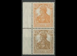 Dt. Reich, S 7 aa mit Rand, ungebraucht, gepr. BPP, Mi. 200,- (14022)