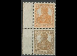Dt. Reich, S 7 aa mit Rand, ungebraucht, gepr. BPP, Mi. 200,- (14023)