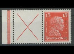 Dt. Reich, W 23 LR 1, postfrisch, Mi. 170,- (14030)