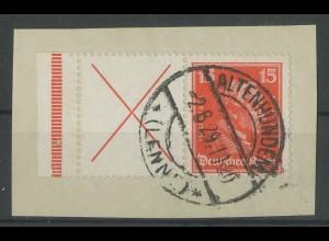 Dt. Reich, W 23 LR 1, Briefstück, Mi. 220,- (14037)