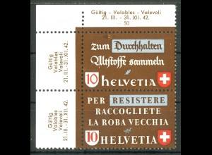Schweiz, Altstoffe SZd 2 mit PF 405 VIII, postfrisch, Mi. 100,- ++ (14198)