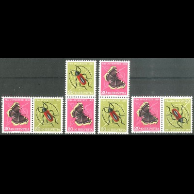 Schweiz, Juventute 1953, ex W 25 - K 44, vier postfr. Zd., Mi. 97,- (14258)