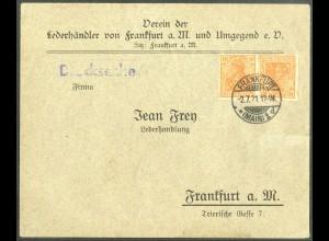 Dt. Reich, K 1, Einzelfrankatur auf Orts-Drucksache (14313)