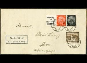Dt. Reich, Mi. W 65, portogerecht auf Fern-Brief, Poststellen-Stempel (14432)