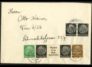 Dt. Reich, Mi. EG-Str. 3, portogerecht auf Fern-Brief, Mi. 25,- (14446)