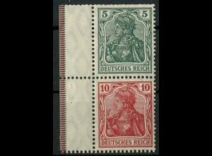 Dt. Reich, S 4 I LR 1, postfrisch mit Rand + StrL, Mi.-Handbuch 150,- (14494)
