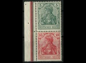 Dt. Reich, S 4 I LR 3, postfr., ndgz Rand + StrL, Mi.-Handbuch 150,- (14496)