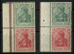 Dt. Reich, S 4 I LR 1 (2), postfr., grüne + rote StrL, Mi.-Handbuch 300,- (14505)