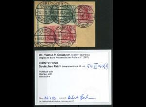 Dt. Reich, S 4 II (2), Briefst. mit+ohne Rand, gepr., Mi.-Handbuch 140,- (14512)