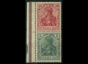 """Dt. Reich, S 5 LR 5.1, postfrisch, ndgz Rand mit """"P"""", Mi.-Handbuch 100,- (14514)"""