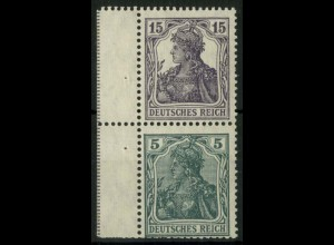 Dt. Reich, S 6 ab LR 1, ungebr., dgz Rand, gepr., Mi.-Handbuch 165,- (14515)