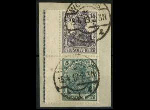 Dt. Reich, S 6 aa LR 1, Briefst., dgz Rand, gepr., Mi.-Handbuch 280,- (14516)